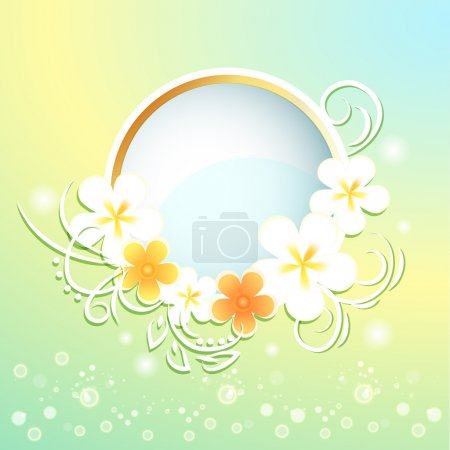 Spring frame with flowers.