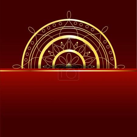 Illustration pour Fond rouge vectoriel avec élément doré . - image libre de droit