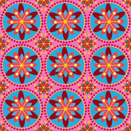 Illustration pour Ornement floral. Fond vectoriel . - image libre de droit