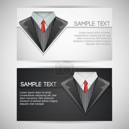 Photo pour Cartes de visite vectorielles avec costume élégant . - image libre de droit