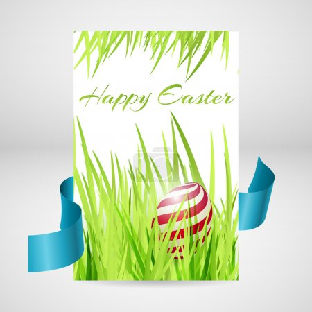 Photo for Greeting card for happy easter with eggs. - Royalty Free Image