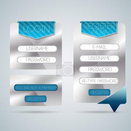 Illustration pour Formulaire de connexion vectorielle. illustration vectorielle - image libre de droit