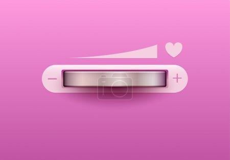 Love control. Vector illustration.