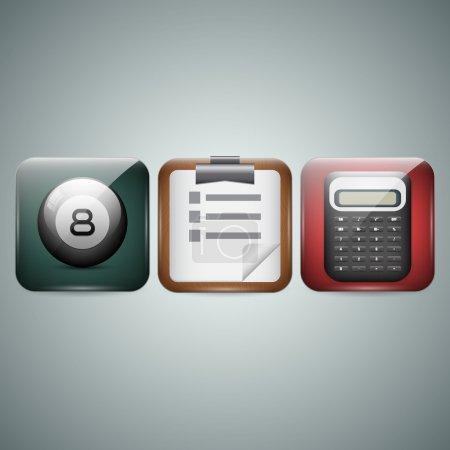 Icônes de téléphone portable. Vecteur