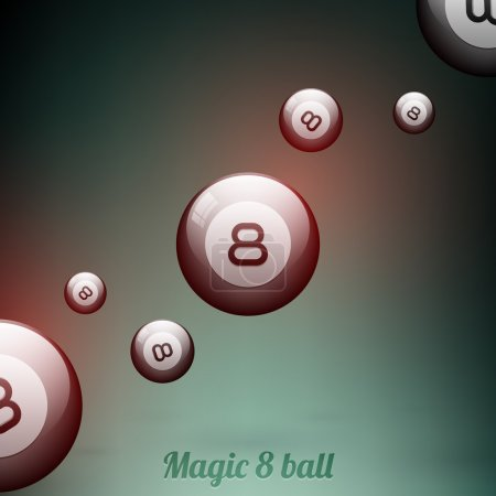 Vector Eight balls vector illustration