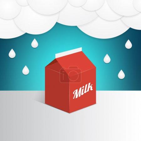 Illustration pour Illustration vectorielle d'un récipient à lait - image libre de droit