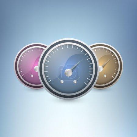 Vector Speedometers vector illustration