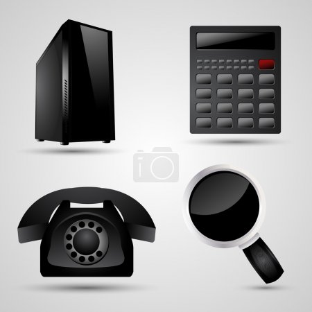 Illustration for Vector illustration of business icons. - Royalty Free Image