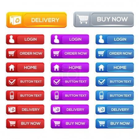 Illustration pour Illustration vectorielle des icônes du shopping vectoriel - image libre de droit
