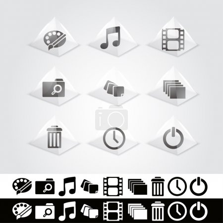 Illustration pour Jeu vectoriel d'icônes web. - image libre de droit