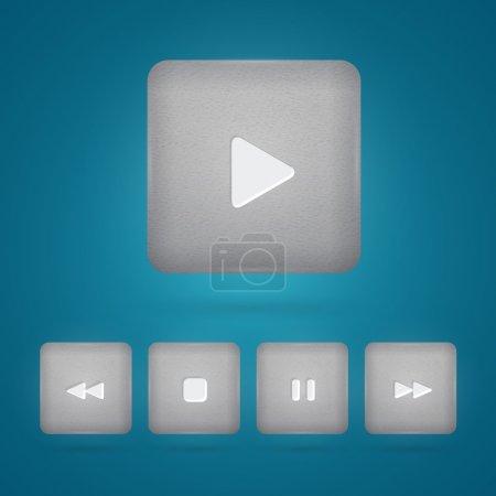 Vektor-Set von Player-Tasten