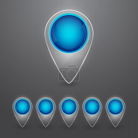Set of round color map pointers. Vector illustration