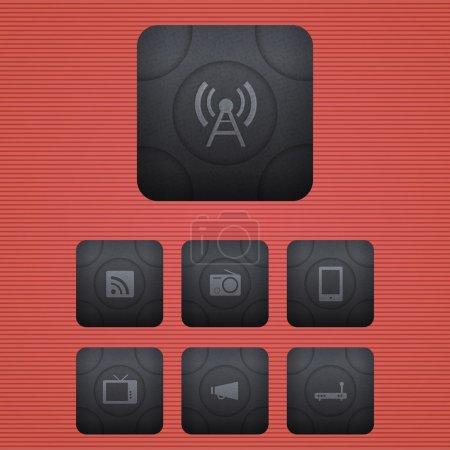 Vector communication icons vector illustration