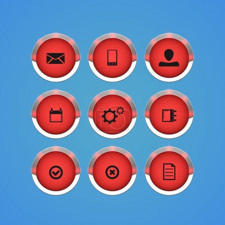Illustration pour Icônes d'affaires réglées. Illustration vectorielle - image libre de droit