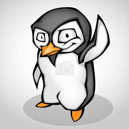 Illustration pour Dessin animé pingouin. Illustration vectorielle - image libre de droit