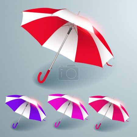 Photo for Umbrellas signs. Vector set - Royalty Free Image