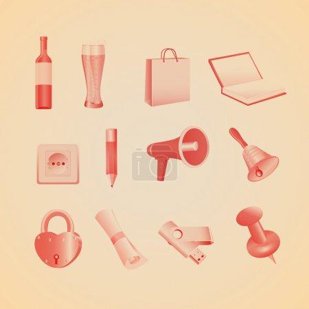 Illustration pour Articles ménagers. Illustration vectorielle - image libre de droit