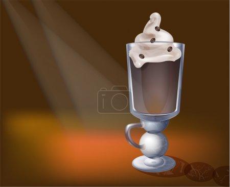 Illustration pour Cappuchino en vecteur de verre - image libre de droit