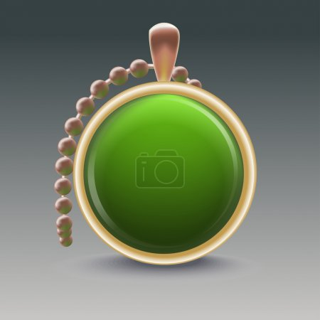 Gemstones necklace. Vector illustration