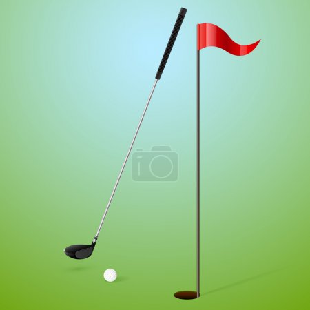 Sport, Golf. Vektorillustration