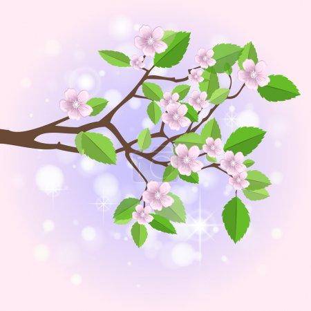Illustration for Spring branch,  vector illustration - Royalty Free Image
