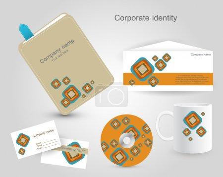 Illustration pour Ensemble de modèles d'identité d'entreprise. illustration vectorielle. - image libre de droit