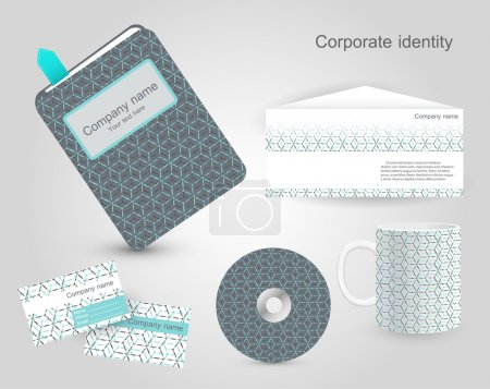 Set of corporate identity templates. Vector illustration.