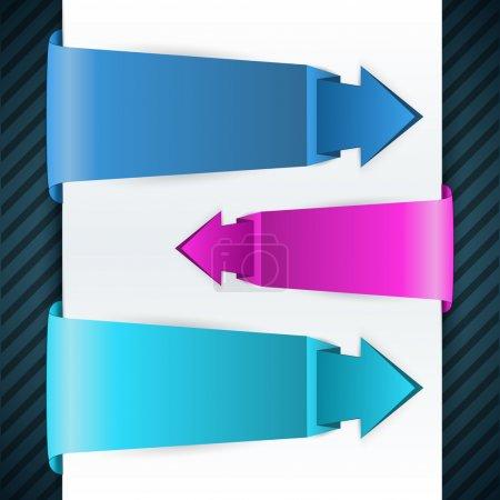Illustration pour Autocollants flèches, illustration vectorielle - image libre de droit