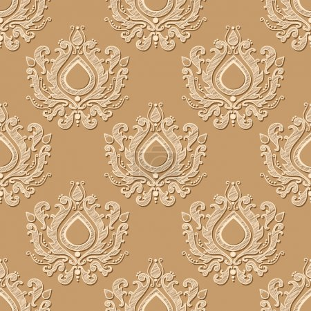 Photo for Seamless wallpaper pattern. Vector illustration - Royalty Free Image