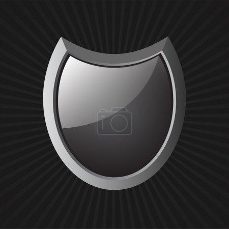 Vector Black Shield. Vector illustration
