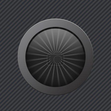 Black power button. Vector illustration.
