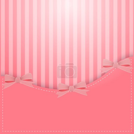 Photo for Vector pink background with bows - Royalty Free Image