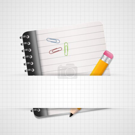 Blank Paper with Notebook Vector