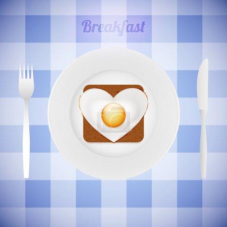 Illustration pour La vaisselle avec le cœur. Vecteur - image libre de droit