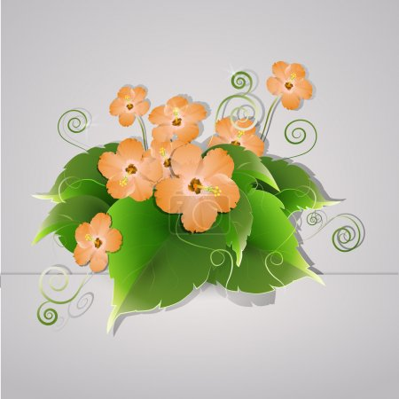 Illustration for Vector flowers,  vector illustration - Royalty Free Image
