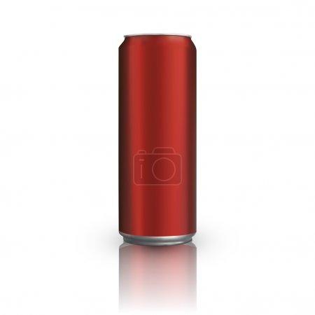 Illustration pour Canette en aluminium rouge. Illustration vectorielle - image libre de droit