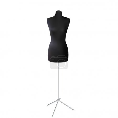 Mannequin isolated on white background. Vector illustration
