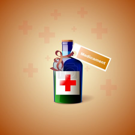 Medicine Bottle With Cross
