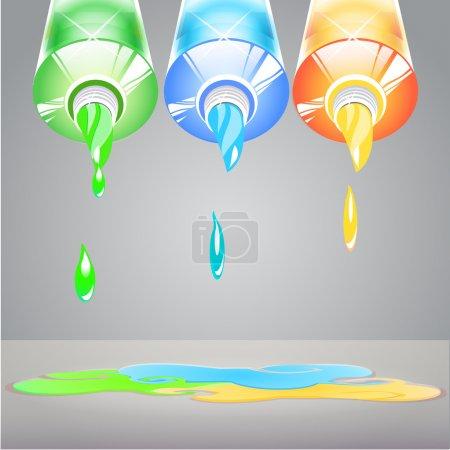 Illustration pour Illustration de tubes isolés de peinture - image libre de droit