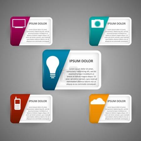 Illustration pour Icônes technologiques. Illustration vectorielle - image libre de droit