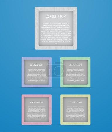 Illustration pour Bannières carrées colorées, illustration vectorielle - image libre de droit
