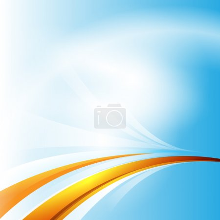 Abstract vector blue background with yellow lines