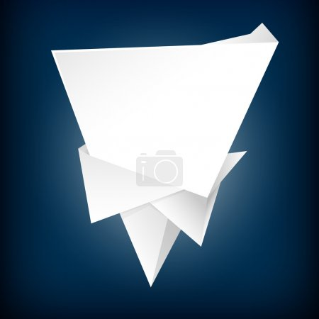 Illustration for Abstract origami speech bubble vector background - Royalty Free Image