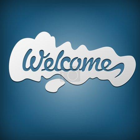 Illustration pour Lettrage Bienvenue, illustration vectorielle - image libre de droit