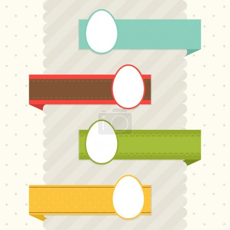 Illustration pour Ensemble de rubans de Pâques - image libre de droit