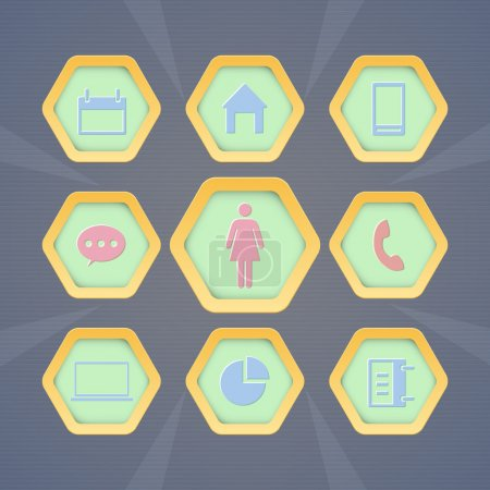 Illustration pour Ensemble d'icônes web vectorielles - image libre de droit
