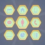 Vector web icons set...