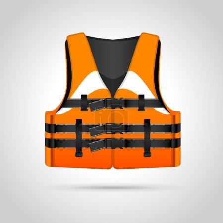 Illustration pour Illustration gilet de sauvetage, illustration vectorielle - image libre de droit