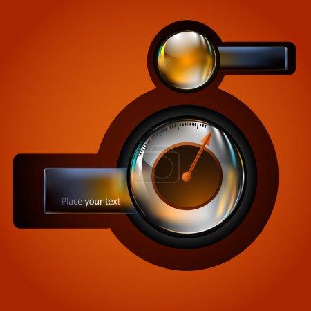 Vector speedometer,  vector illustration