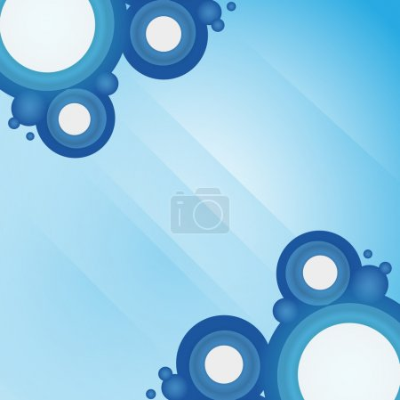 Illustration for Abstract blue geometrical design - Royalty Free Image